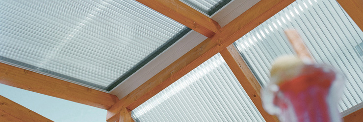 PLEXIGLAS® Heatstop Terrassenüberdachung